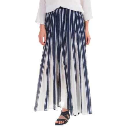 Pendleton Chloe Skirt - Cotton-Silk (For Women) in Navy Stripe - Closeouts