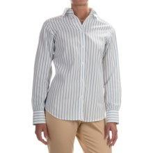 Pendleton City Stripe Cotton Shirt - Long Sleeve (For Women) in White/Azure Stripe - Closeouts