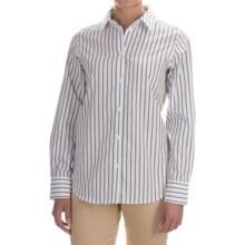 Pendleton City Stripe Cotton Shirt - Long Sleeve (For Women) in White/Black Stripe - Closeouts