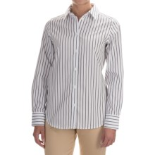 Pendleton City Stripe Cotton Shirt - Long Sleeve (For Women) in White/Black Stripe - Closeouts