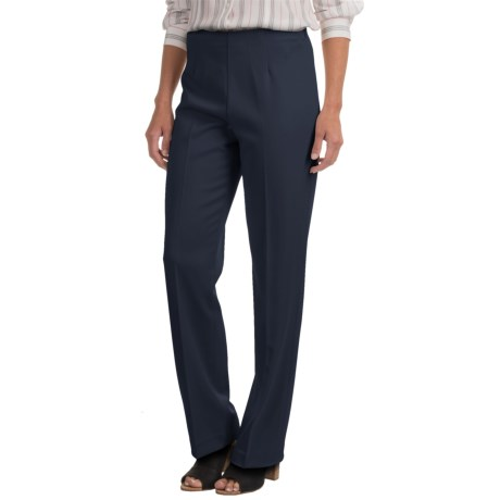 Pendleton Classic Stretch Side-Zip Pants (For Women) in Navy