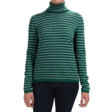 Pendleton Classic Stripe Turtleneck - Merino Wool, Long Sleeve (For Women) in Bistro Green Heather/Sort Grey Heather - Closeouts