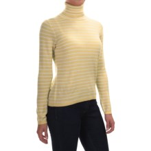 Pendleton Classic Stripe Turtleneck - Merino Wool, Long Sleeve (For Women) in Cornsilk/Ivory - Closeouts