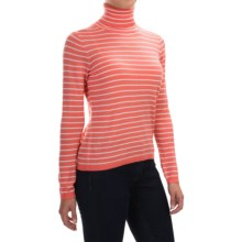 Pendleton Classic Stripe Turtleneck - Merino Wool, Long Sleeve (For Women) in Sugar Coral/Ivory - Closeouts