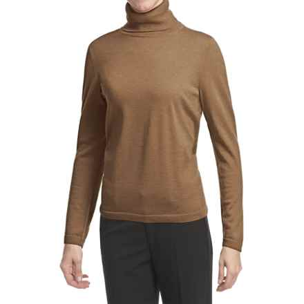 Pendleton Classic Turtleneck Sweater - Merino Wool (For Women) in Camel Heather - Closeouts