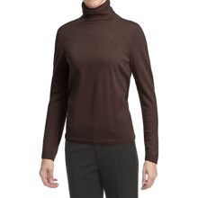 Pendleton Classic Turtleneck Sweater - Merino Wool (For Women) in French Roast Heather - Closeouts