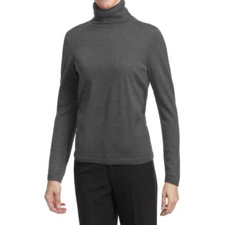 Pendleton Classic Turtleneck Sweater - Merino Wool (For Women) in Grey - Closeouts