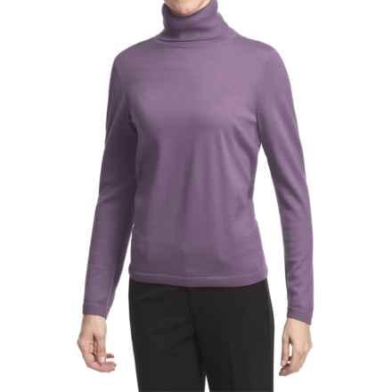 Pendleton Classic Turtleneck Sweater - Merino Wool (For Women) in Lavender - Closeouts