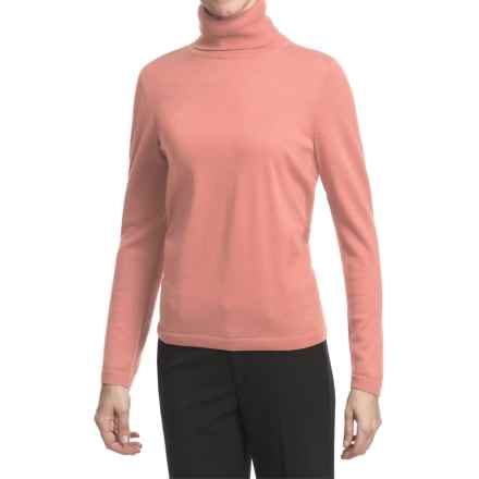 Pendleton Classic Turtleneck Sweater - Merino Wool (For Women) in Salmon Sorbet - Closeouts