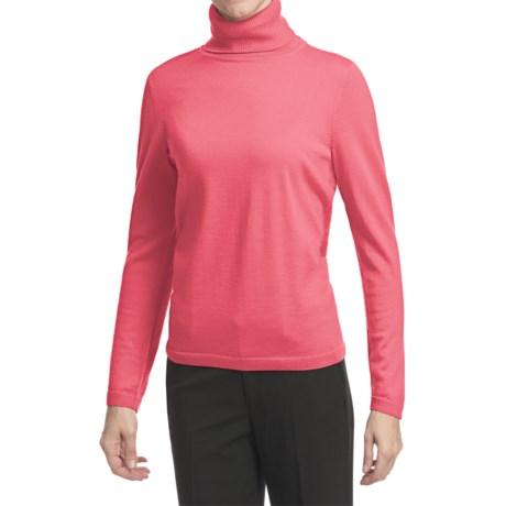 Pendleton Classic Turtleneck Sweater - Merino Wool (For Women) in Sugar Coral