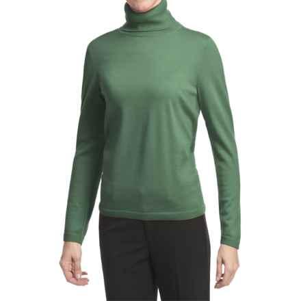 Pendleton Classic Turtleneck Sweater - Merino Wool (For Women) in Wintergreen - Closeouts