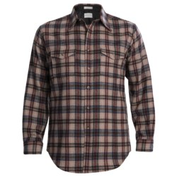 Pendleton Classic Wool Outdoorsman Shirt - Long Sleeve (For Men) in Gold/Brown Plaid