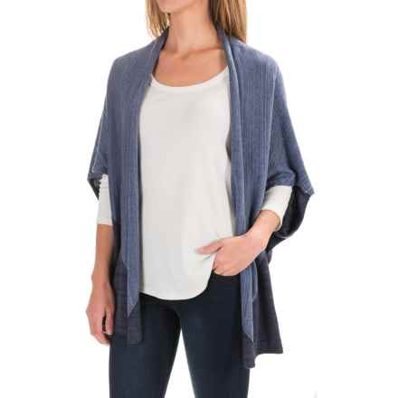 Pendleton Color-Block Poncho (For Women) in Blue Heather Multi - Closeouts