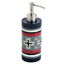 Pendleton Compass Hand-Painted Lotion Pump in Blue/Red - Closeouts