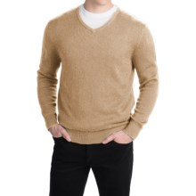 Pendleton Cotton-Cashmere Sweater - V-Neck (For Men) in Camel Marl - Closeouts