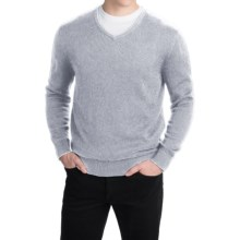 Pendleton Cotton-Cashmere Sweater - V-Neck (For Men) in Egret Grey - Closeouts
