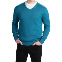 Pendleton Cotton-Cashmere Sweater - V-Neck (For Men) in Ocean Blue - Closeouts