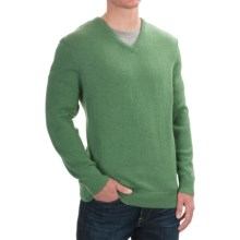 Pendleton Cotton-Cashmere Sweater - V-Neck (For Men) in Woodland Green - Closeouts