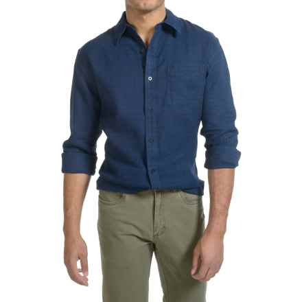Pendleton Cotton Dobby Shirt - Long Sleeve (For Men) in Indigo Dobby - Closeouts