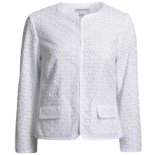 Pendleton Cotton Eyelet Jacket (For Women) in White - Closeouts