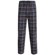 Pendleton Cotton Flannel Sleep Pants (For Men) in Blue/Brown Plaid - Closeouts