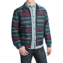 Pendleton Cotton Jacquard Coat - Full Zip (For Men) in Blue/Red/Yellow - Closeouts