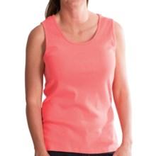 Pendleton Cotton Rib Tank Top (For Women) in Salmonberry - Closeouts