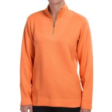 Pendleton Cotton Zip Neck Sweatshirt - Long Sleeve (For Women) in Orange Peel - Closeouts