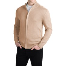 Pendleton Cotton/Cashmere Cardigan Sweater - Full Zip (For Men) in Camel Marl - Closeouts