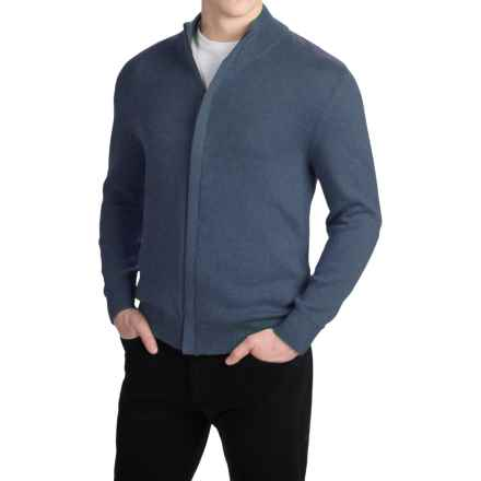 Pendleton Cotton/Cashmere Cardigan Sweater - Full Zip (For Men) in Denim Blue - Closeouts
