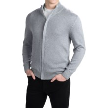 Pendleton Cotton/Cashmere Cardigan Sweater - Full Zip (For Men) in Egret Grey - Closeouts