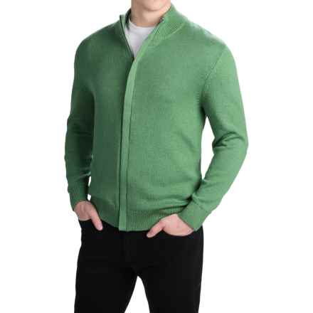 Pendleton Cotton/Cashmere Cardigan Sweater - Full Zip (For Men) in Woodland Green - Closeouts