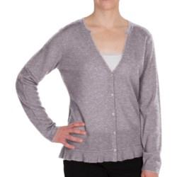 Pendleton Crème De Cashmere Cardigan Sweater - V-Neck (For Women) in Soft Grey