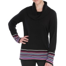Pendleton Crème de Cashmere Sweater - Cowl Neck (For Plus Size Women) in Black - Closeouts
