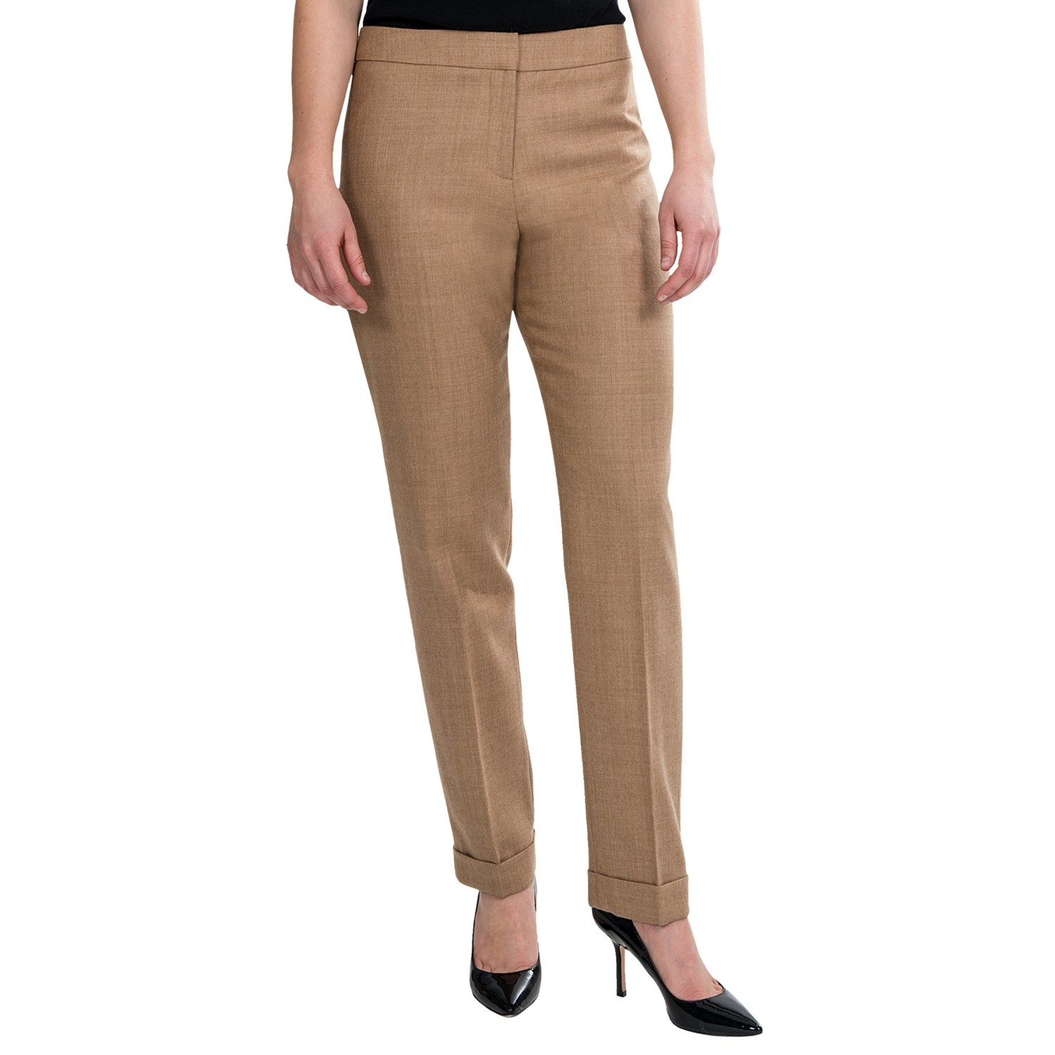 When you're not busy conquering the conference room, kick back in the Lulus Kick It Black Trouser Pants! Sleek woven poly constructs a high, banded waist, pleated accents, and diagonal front pockets/5().