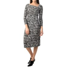 Pendleton Cynthia Zebra Jersey Dress - Long Sleeve (For Women) in Black/Ivory - Closeouts