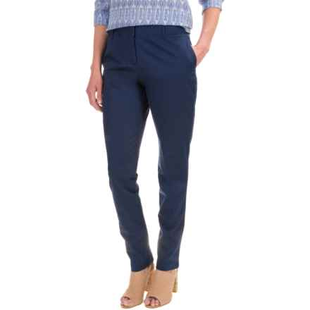 Pendleton Day after Day Chino Pants - Straight Leg (For Women) in Tartan Navy - Closeouts