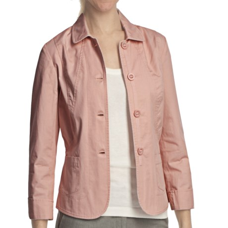 Pendleton Day Brightener Cotton Jacket  (For Petite Women) in Sugar Pink