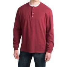 Pendleton Deschutes Henley Shirt - Long Sleeve (For Men) in Berry Heather - Closeouts