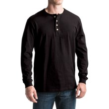 Pendleton Deschutes Henley Shirt - Long Sleeve (For Men) in Black - Closeouts