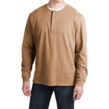 Pendleton Deschutes Henley Shirt - Long Sleeve (For Men) in Camel Heather - Closeouts