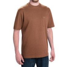 Pendleton Deschutes T-Shirt - Combed Jersey Cotton, Short Sleeve (For Men) in Bark Heather - Closeouts