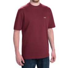 Pendleton Deschutes T-Shirt - Combed Jersey Cotton, Short Sleeve (For Men) in Berry Heather - Closeouts