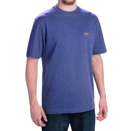 Pendleton Deschutes T-Shirt - Combed Jersey Cotton, Short Sleeve (For Men) in Brilliant Blue Heather - Closeouts