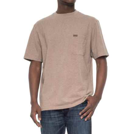 Pendleton Deschutes T-Shirt - Combed Jersey Cotton, Short Sleeve (For Men) in Mocha Heather - Closeouts