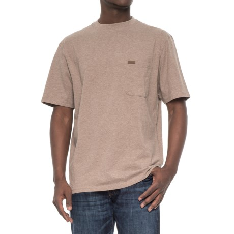 Pendleton Deschutes T-Shirt - Combed Jersey Cotton, Short Sleeve (For Men) in Mocha Heather
