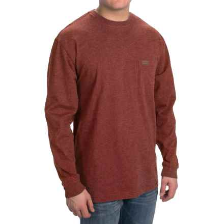 Pendleton Deschutes T-Shirt - Long Sleeve (For Men) in Crimson Red Heather - Closeouts
