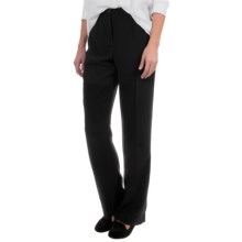 Pendleton Destination Tricotine Travel Pants - Straight Leg (For Women) in Black - Overstock