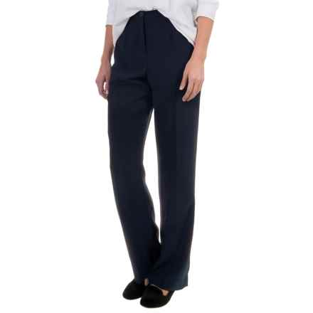 Pendleton Destination Tricotine Travel Pants - Straight Leg (For Women) in Midnight Navy - Overstock