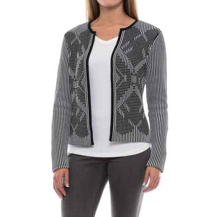 Pendleton Diamond Cardigan Sweater - Cotton (For Women) in Black/White - Closeouts